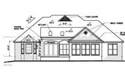 Mediterranean Style House Plan - 3 Beds 2.5 Baths 2559 Sq/Ft Plan #15-253 Exterior - Rear Elevation