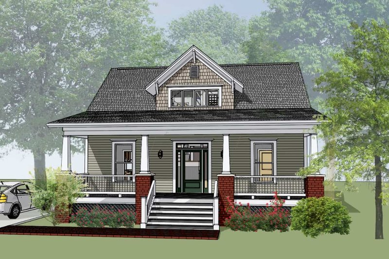 Craftsman Exterior - Front Elevation Plan #79-222