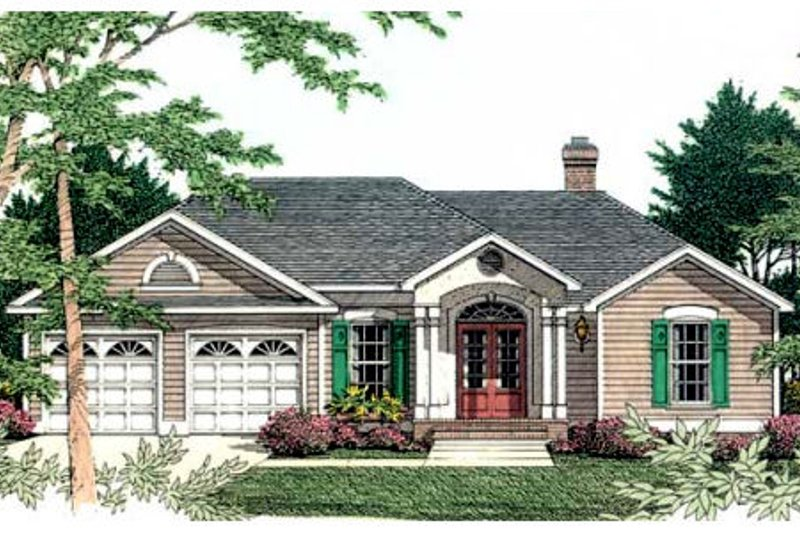 Traditional Exterior - Front Elevation Plan #406-210 - Houseplans.com