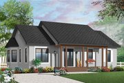 Country Style House Plan - 3 Beds 1 Baths 1218 Sq/Ft Plan #23-2379