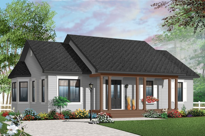 House Plan Design - Country Exterior - Front Elevation Plan #23-2379