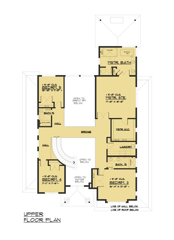 Traditional Floor Plan - Upper Floor Plan Plan #1066-93