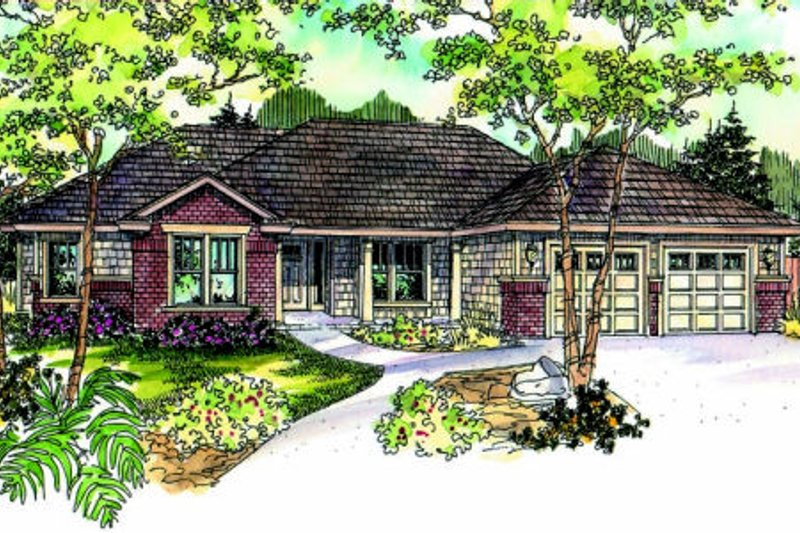 Craftsman Style House Plan - 4 Beds 3 Baths 2610 Sq/Ft Plan #124-689 Exterior - Front Elevation