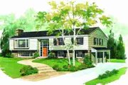 Traditional Style House Plan - 4 Beds 3 Baths 1456 Sq/Ft Plan #72-295 Exterior - Front Elevation