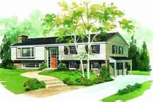 Traditional Exterior - Front Elevation Plan #72-295