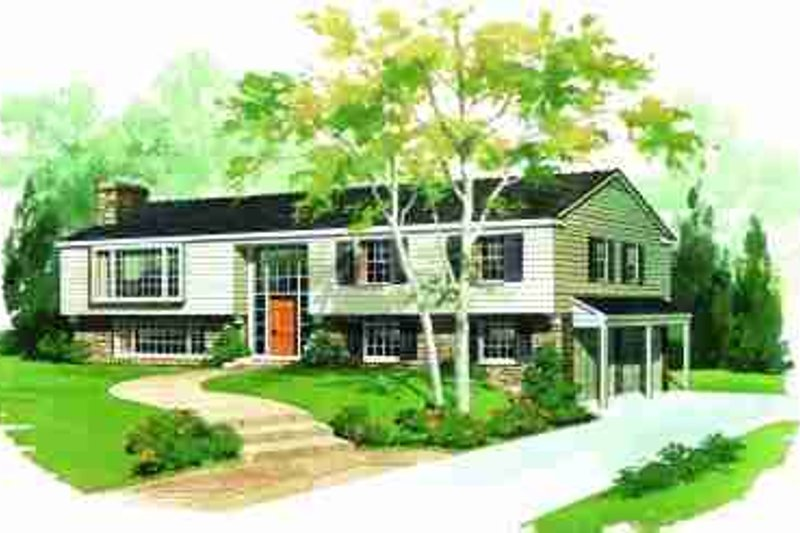Traditional Exterior - Front Elevation Plan #72-295 - Houseplans.com