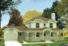 Dream House Plan - Traditional Exterior - Front Elevation Plan #57-154