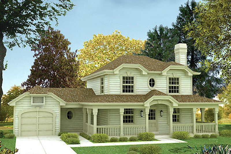 Traditional Exterior - Front Elevation Plan #57-154 - Houseplans.com