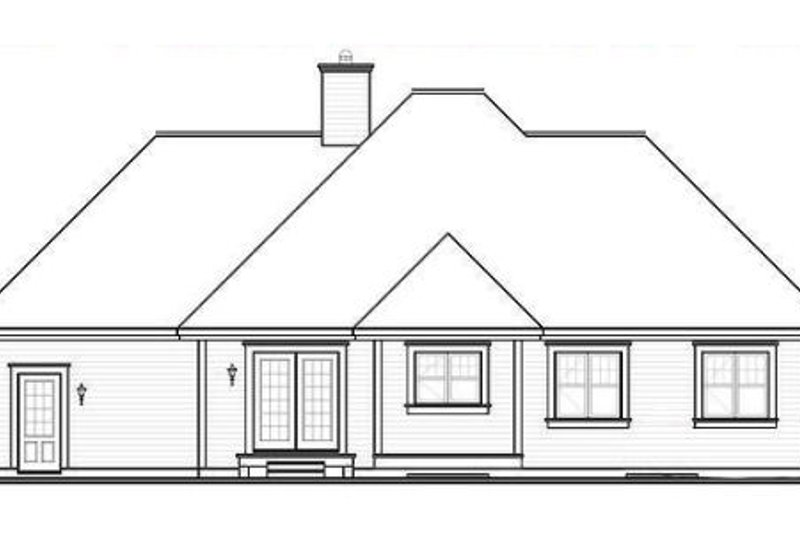 Cottage Exterior - Rear Elevation Plan #23-2210 - Houseplans.com