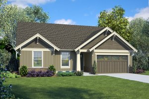 Craftsman Exterior - Front Elevation Plan #48-998