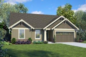 Craftsman Exterior - Front Elevation Plan #48-998