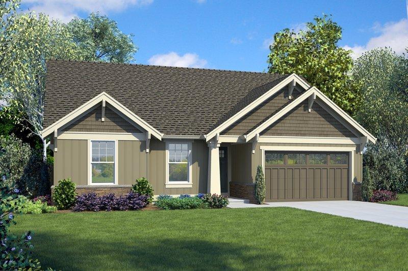 Dream House Plan - Craftsman Exterior - Front Elevation Plan #48-998