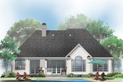 Ranch Style House Plan - 3 Beds 2.5 Baths 2017 Sq/Ft Plan #929-666 Exterior - Rear Elevation