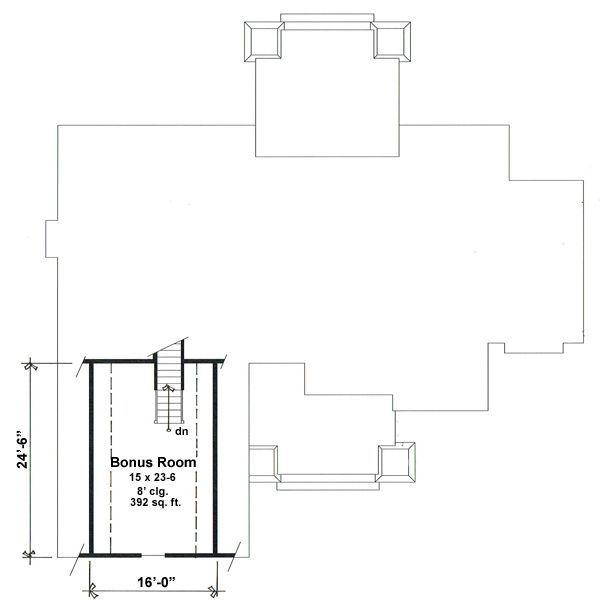 Craftsman Floor Plan - Other Floor Plan Plan #51-552