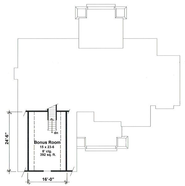 Craftsman Floor Plan - Other Floor Plan Plan #51-552