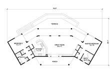Contemporary Floor Plan - Main Floor Plan Plan #140-157