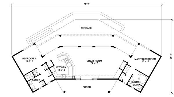 House Design - Contemporary Floor Plan - Main Floor Plan #140-157