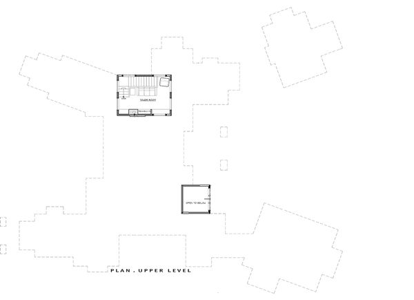 Craftsman Floor Plan - Upper Floor Plan Plan #892-6