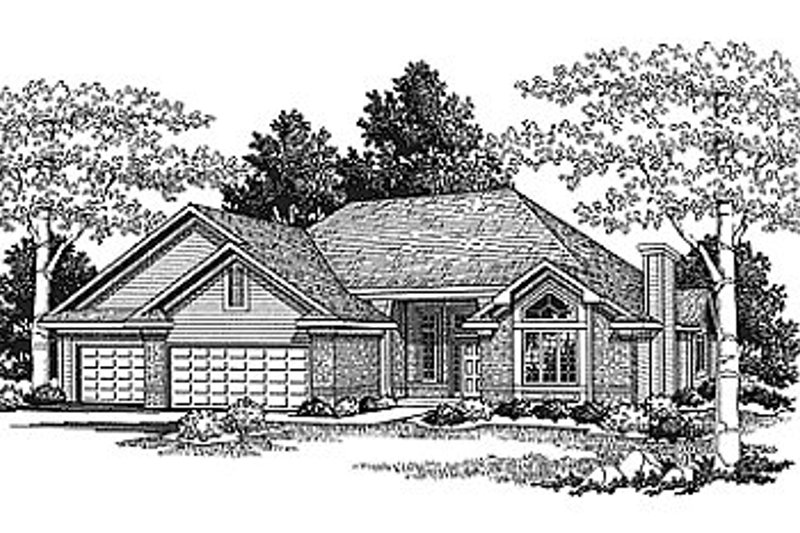 Traditional Exterior - Front Elevation Plan #70-231 - Houseplans.com