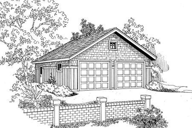 Craftsman Style House Plan - 0 Beds 0 Baths 676 Sq/Ft Plan #124-631 Exterior - Front Elevation