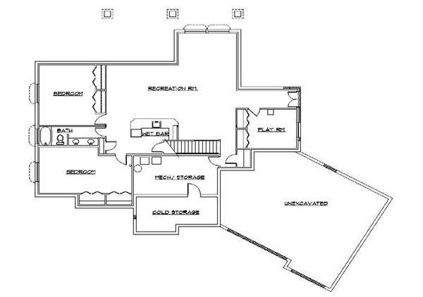 House Plan Design - European Floor Plan - Lower Floor Plan #5-271