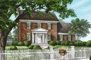 Colonial Style House Plan - 4 Beds 2.5 Baths 2809 Sq/Ft Plan #137-171 Exterior - Front Elevation
