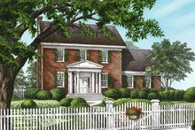 Architectural House Design - Colonial Exterior - Front Elevation Plan #137-171