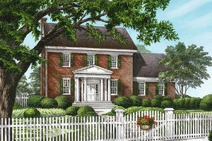 Colonial Exterior - Front Elevation Plan #137-171