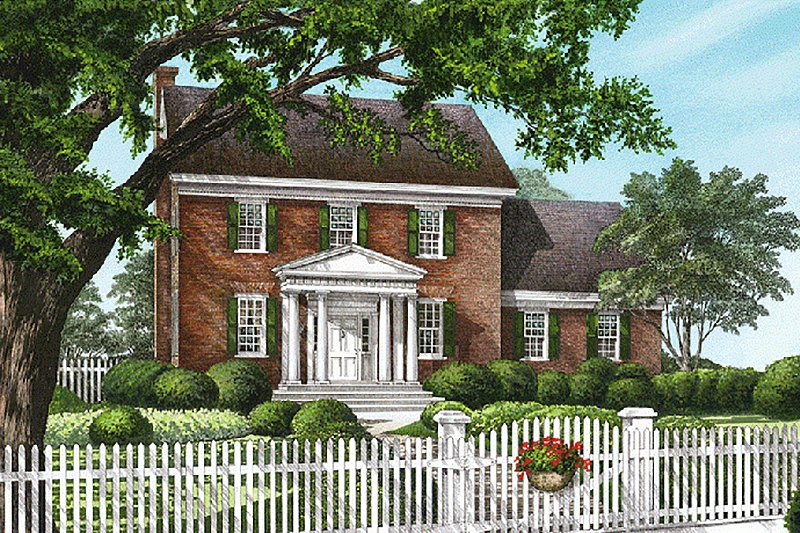 Colonial Exterior - Front Elevation Plan #137-171 - Houseplans.com