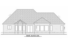 Home Plan Design - Ranch Exterior - Rear Elevation Plan #20-2305