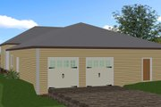 Traditional Style House Plan - 3 Beds 2 Baths 2208 Sq/Ft Plan #44-193 Exterior - Rear Elevation