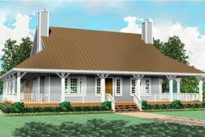 Farmhouse Exterior - Front Elevation Plan #81-495