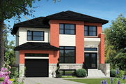 Contemporary Style House Plan - 3 Beds 1 Baths 1590 Sq/Ft Plan #25-4340 Exterior - Front Elevation