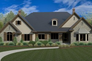 European Exterior - Front Elevation Plan #920-17