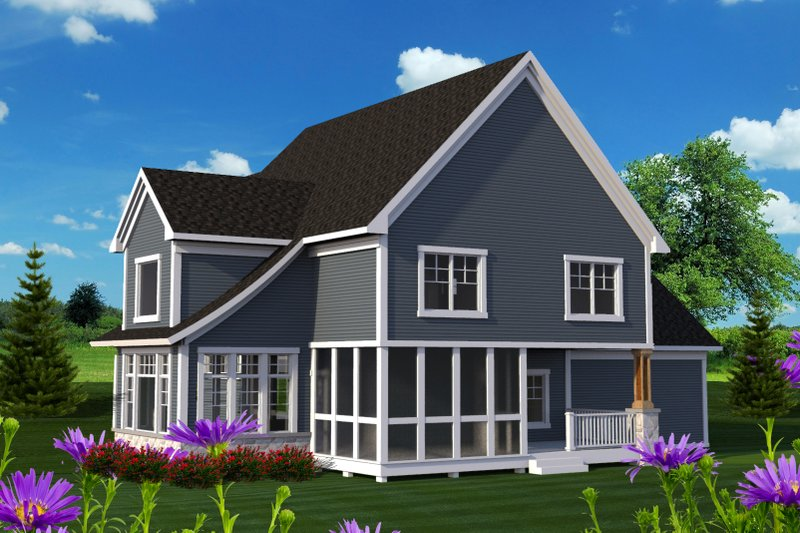 Craftsman Exterior - Rear Elevation Plan #70-1224 - Houseplans.com