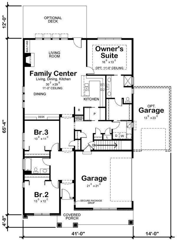 Ranch Floor Plan - Main Floor Plan Plan #20-2331