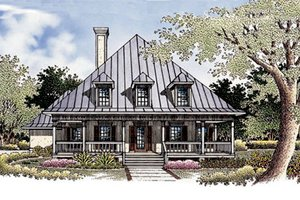 Country Exterior - Front Elevation Plan #45-132