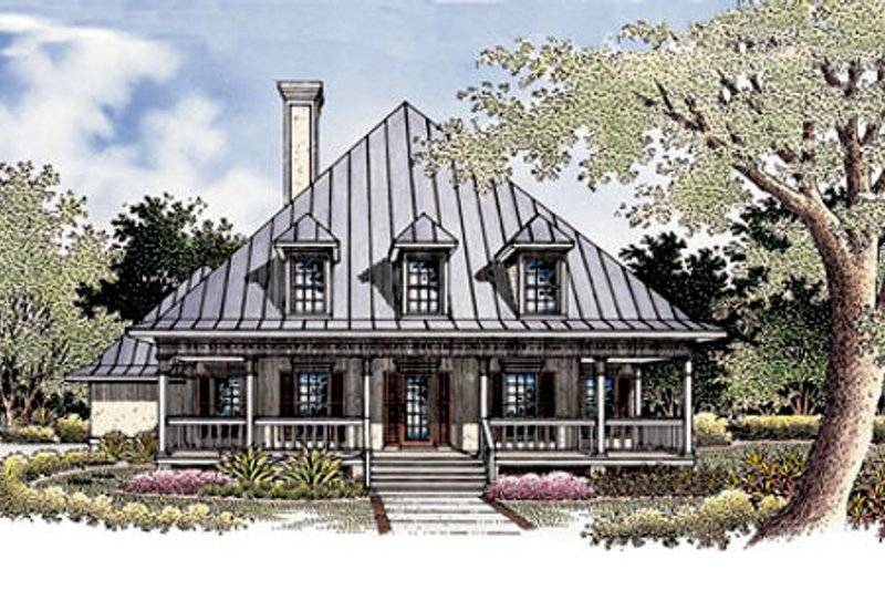 Architectural House Design - Country Exterior - Front Elevation Plan #45-132