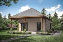 Dream House Plan - Cottage Exterior - Front Elevation Plan #124-1154