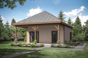 Dream House Plan - Cottage Exterior - Front Elevation Plan #124-1154