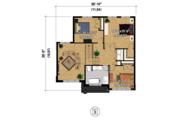 Contemporary Style House Plan - 4 Beds 2 Baths 2741 Sq/Ft Plan #25-4379 Floor Plan - Upper Floor