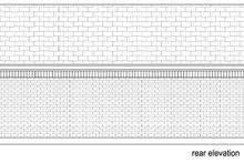 Cottage Exterior - Rear Elevation Plan #84-535