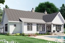 House Plan Design - Farmhouse Exterior - Rear Elevation Plan #51-1171