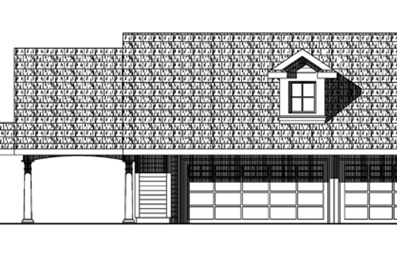 Country Exterior - Front Elevation Plan #124-897