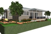 Cottage Style House Plan - 1 Beds 1 Baths 825 Sq/Ft Plan #499-4 Exterior - Rear Elevation