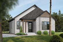 Dream House Plan - Modern Exterior - Front Elevation Plan #23-695