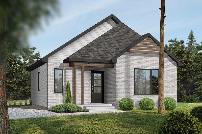 Dream House Plan - Modern Exterior - Front Elevation Plan #23-695