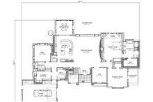 Adobe / Southwestern Floor Plan - Main Floor Plan Plan #451-25