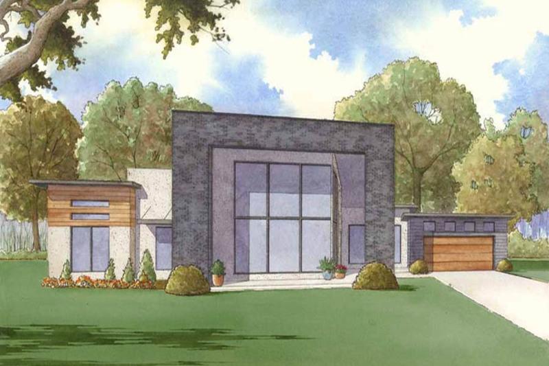 Contemporary Exterior - Front Elevation Plan #923-53 - Houseplans.com