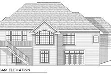 Dream House Plan - Southern Exterior - Rear Elevation Plan #70-807
